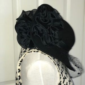 Lonni Lancaster Black Vintage Hat